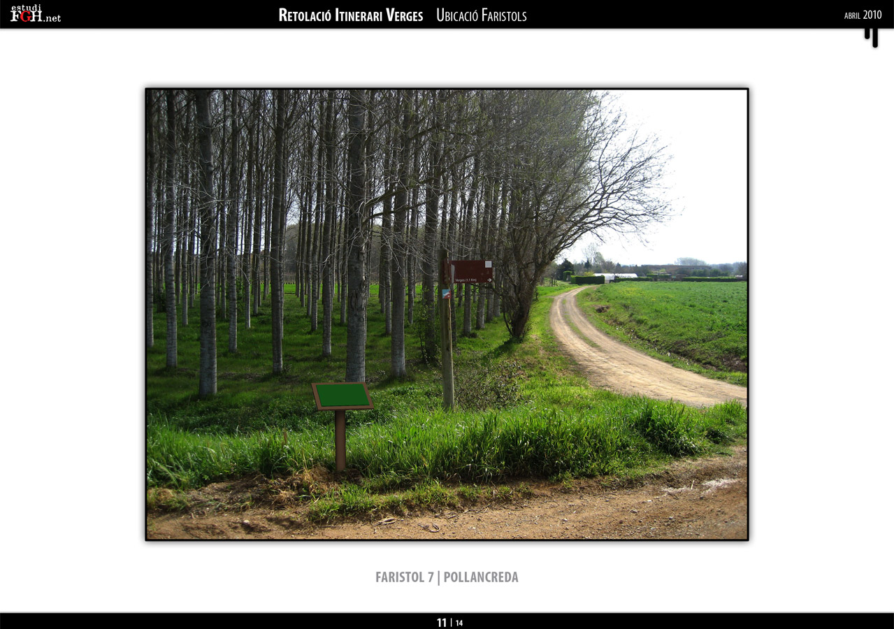Disseny Fotomuntatges plafonatge itineraris Verges (2010)