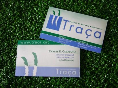 Disseny targetes Traça Estudis Ambientals (2010)