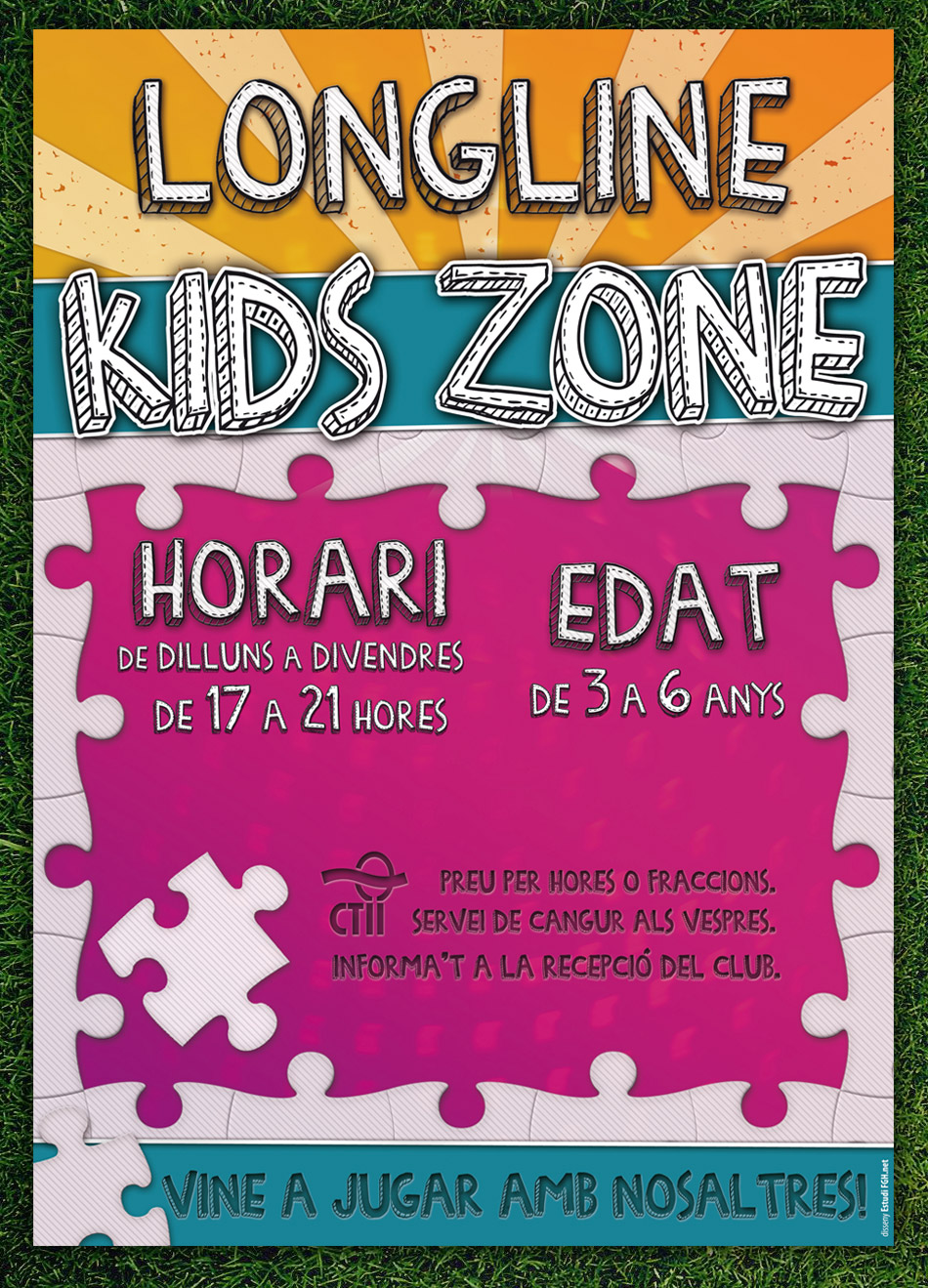 Disseny Cartell i Rollup Kids Zone Longline (2011)