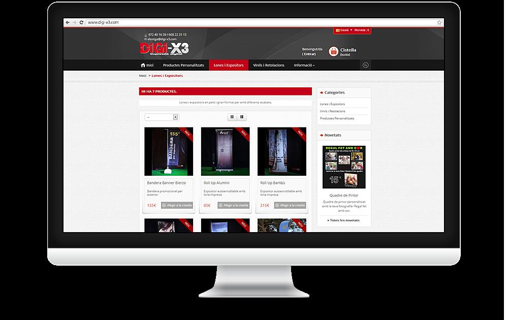 Web i ebotiga DiGi-X3 Impressió Digital (2013)